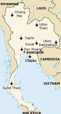 Utapao Afb Thailand Map.Thailand Af Units